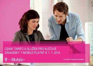 Ceník tarifů a služeb pro zákazníky s Rámcovou - T-Mobile