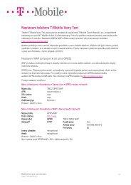 Nastavení telefonu T-Mobile Vairy Text