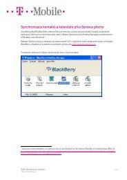 Synchronizace kontaktů a kalendáře přes Správce plochy - T-Mobile