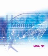 uživatelský manuálUživatelský manuál k T-Mobile MDA III.