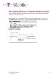 Nastavení e-mailových účtů ke službě BlackBerry Internet ... - T-Mobile