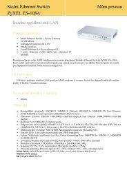 Stolní Ethernet Switch ZyXEL ES-108A Mám pevnou - T-Mobile