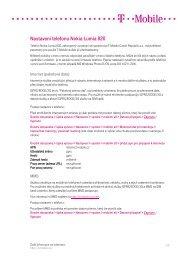 Nastavení telefonu Nokia Lumia 820.pdf - T-Mobile