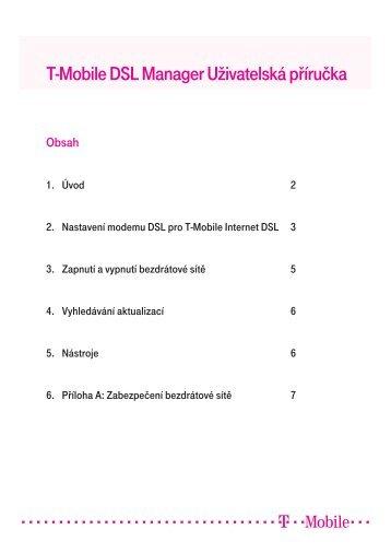 T-Mobile DSL Manager Uživatelská příručka