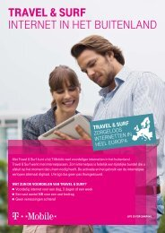 Factsheet Travel & Surf medewerkers - T-Mobile