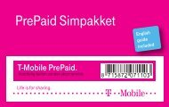 Handleiding T-Mobile PrePaid