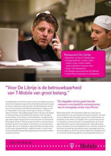 """"""" Voor De Librije is de betrouwbaarheid van T-Mobile van groot ..."""