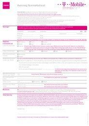 formulier nummerbehoud - T-Mobile