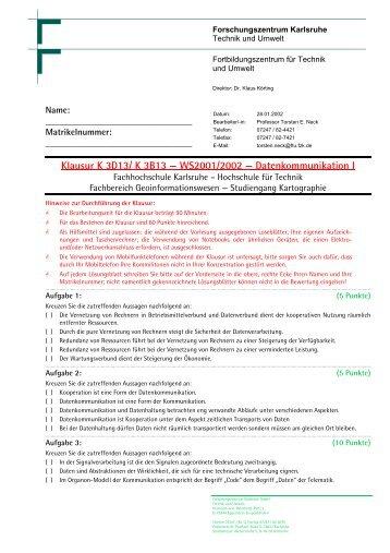 Klausur FH-KA - Torsten E. Neck
