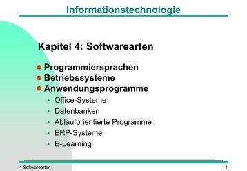 Softwarearten - Torsten E. Neck