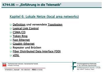 Lokale Netze - Torsten E. Neck