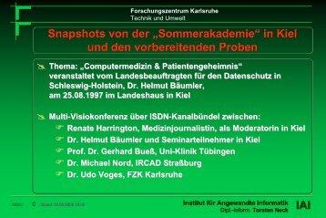Snapshots von der Multi-Visiokonferenz mit Kiel - Torsten E. Neck
