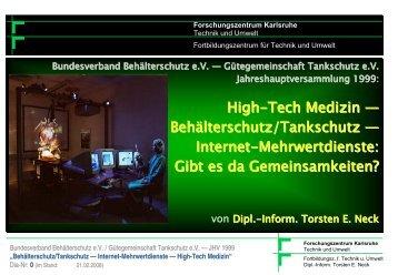 Behälterschutz — High-Tech Medizin - Torsten E. Neck