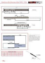 steel/inox roller telescopic slides TQAZ.., TQAx.. - T RACE SpA