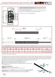 Guide semitelescopiche a sfere serie SR.., SRX.. - T RACE SpA