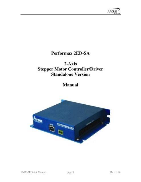 Performax 2ED-SA 2-Axis Stepper Motor Controller/Driver     - T2 CNC