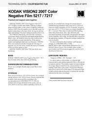 KODAK VISION2 200T Color Negative Film 5217 / 7217