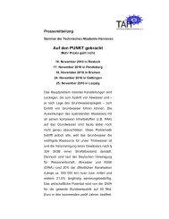 Auf den PUNKT gebracht - Technische Akademie Hannover eV