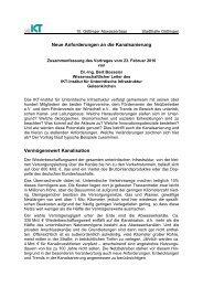 Neue Anforderungen an die Kanalsanierung - Technische ...