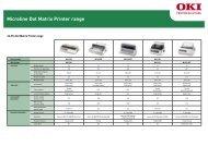 Microline Dot Matrix Printer range