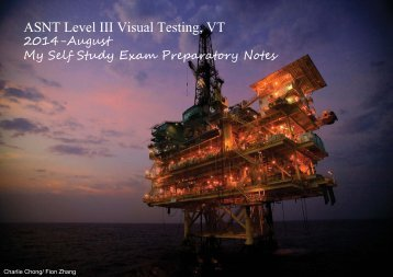 ASNT Level III Visual Testing, VT