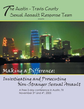 SART conference.indd - Texas Association Against Sexual Assault