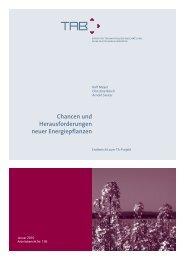 Chancen und Herausforderungen neuer Energiepflanzen - Büro für ...