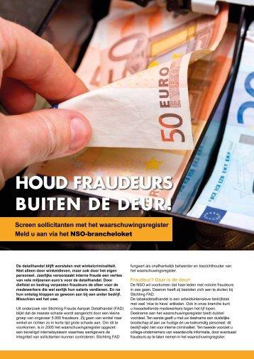 HOUD FRAUDEURS BUITEN DE DEUR! - Nso