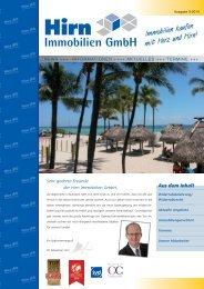 NEWS INFORMATIONEN AKTUELLES TERMINE der Hirn Immobilien GmbH 03-2014