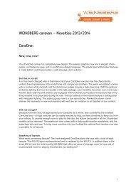 CaraOne: WEINSBERG caravan – Novelties 2013/2014 - Tabbert