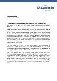 Press Release - Tabbert