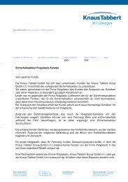 Offizielles Kundenanschreiben der Knaus Tabbert GmbH (PDF)