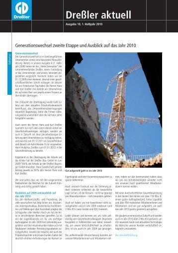 Dressler aktuell 1-2010 prev 2 - Dreßler-Bau