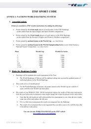itsf sport code - International Table Soccer Federation