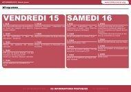 VENDREDI 15 SAMEDI 16