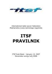 ITSF PRAVILNIK - International Table Soccer Federation