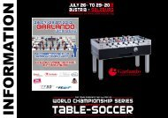 Players info package - International Table Soccer Federation