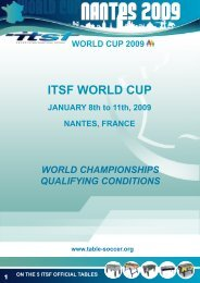 ITSF WORLD CUP - International Table Soccer Federation