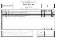 Scoresheets - Round robin phase - Prague - WCS - 2009 Pro Doubles
