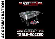 Accommodation - International Table Soccer Federation