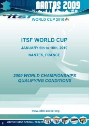 qualify for the World Championships - International Table Soccer ...
