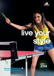 LIKE US ON FACEBOOK - adidas Table Tennis: Home