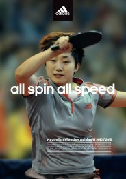 spin all speed Nouvelle collection adidas TT 2012 / 2013