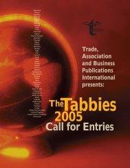 2005 Call for Entries - tabpi
