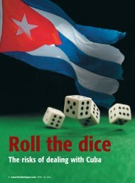 The risks of dealing with Cuba - tabpi
