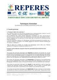 Techniques d'entretien - Centre européen Robert Schuman