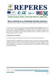 BILAN CHIFFRÉ DE LA PREMIÈRE GUERRE MONDIALE - Centre ...