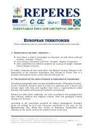 REPERES - module 3-0 - explanatory notes - European territories