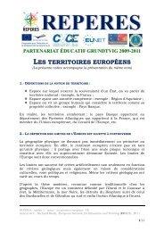 REPERES - module 3-0 - notice - Les territoires europeens - Centre ...
