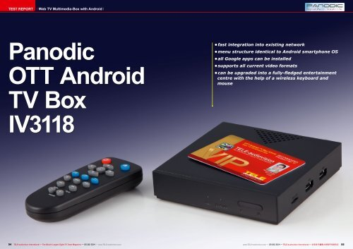 Panodic OTT Android TV Box IV3118